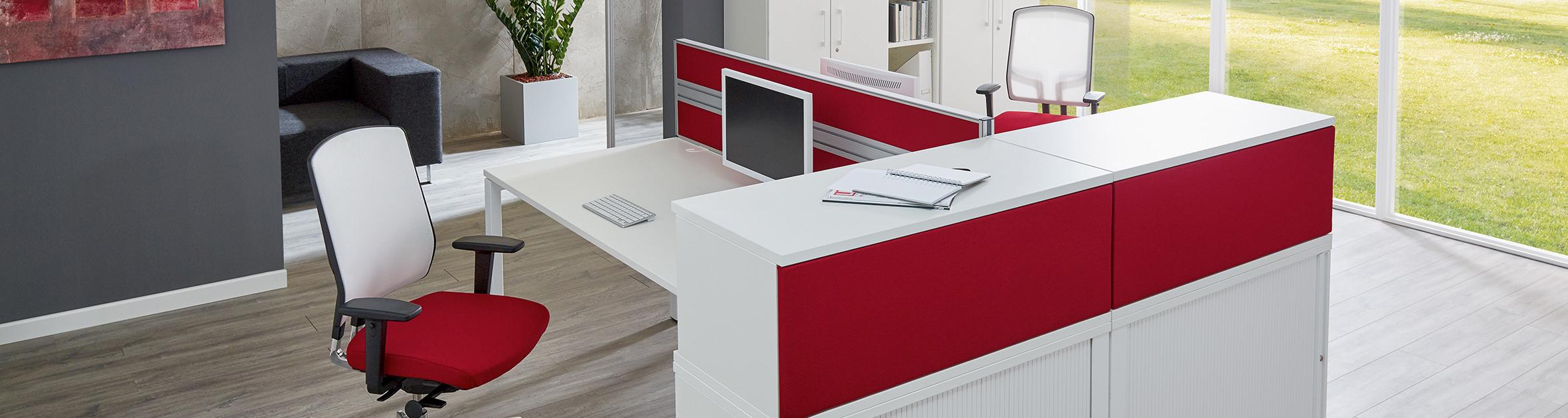 ckw Einrichtung, Büro in Rot