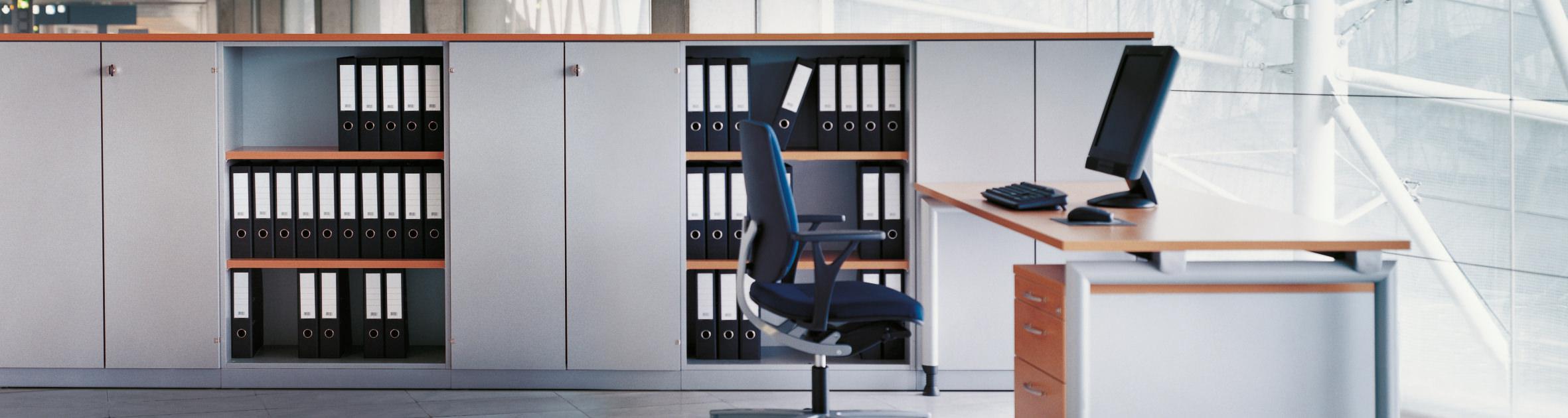 ckw Einrichtung, Schreibtisch und Ordnerschrank