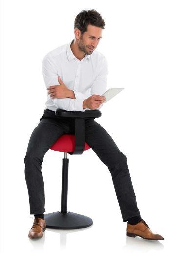 Rückenaktiv sitzen und stehen mit Rovo Solo