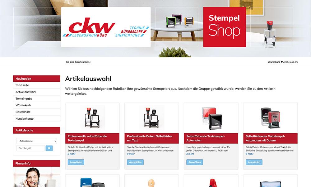 Onlineshop Stempel