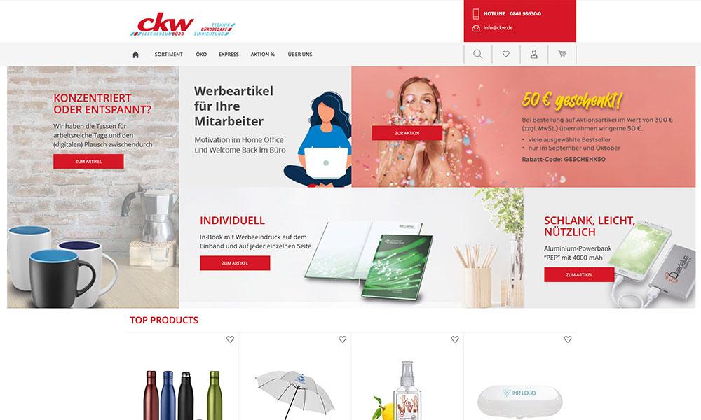 Onlineshop Werbemittel